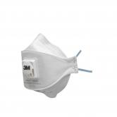 3M™ Aura™ Particulate Respirator, FFP3, Valved, 9332+
